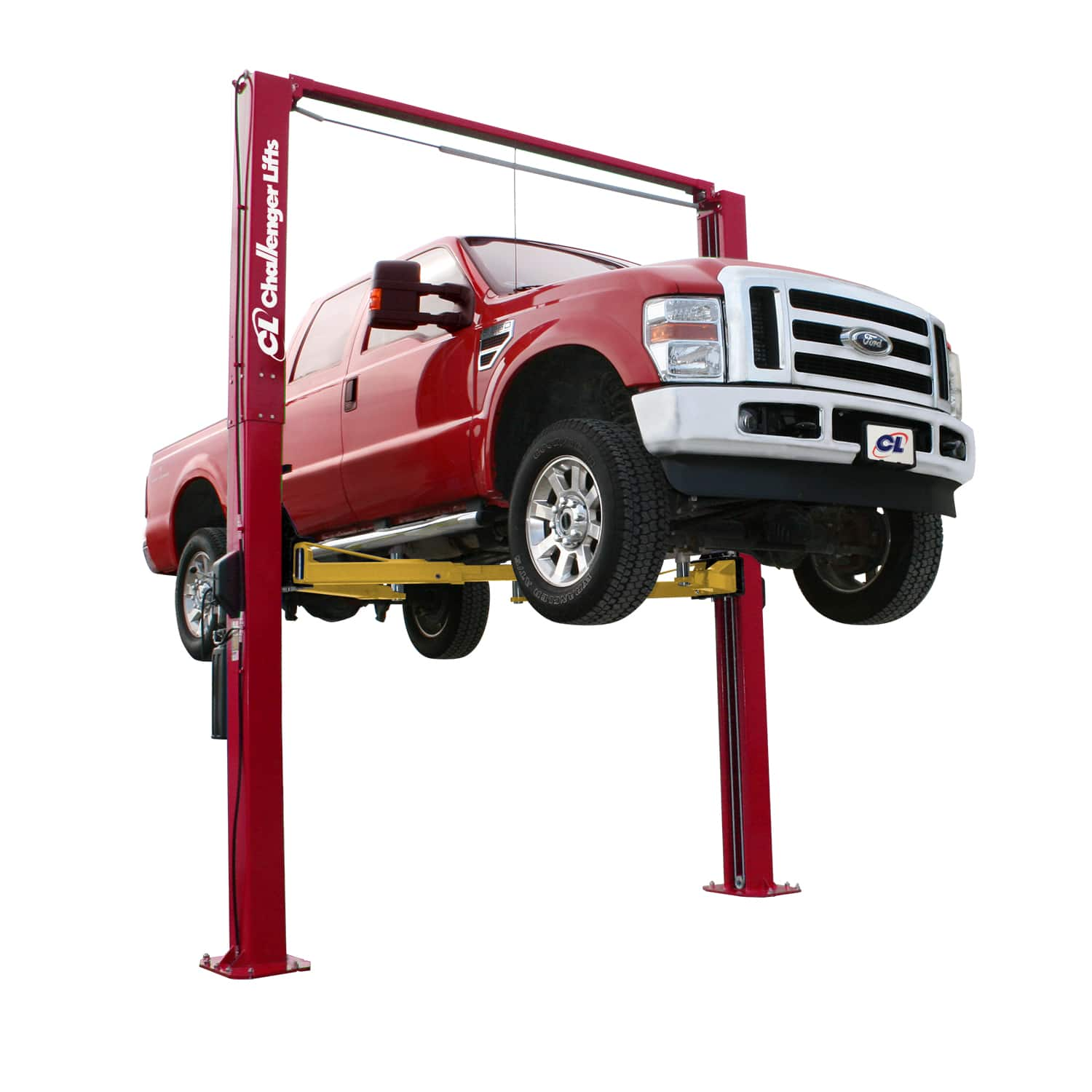 Challenger's E12 is the perfect economic 2-post lift for servicing trucks  and other vehicles up to 12,000 lbs. Heavy-duty 2-stage front and 2-stage  rear ...