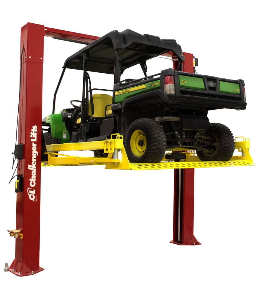 Challenger S Turf Rail Attachment For 2 Post Lifts Can Pick Up Turf