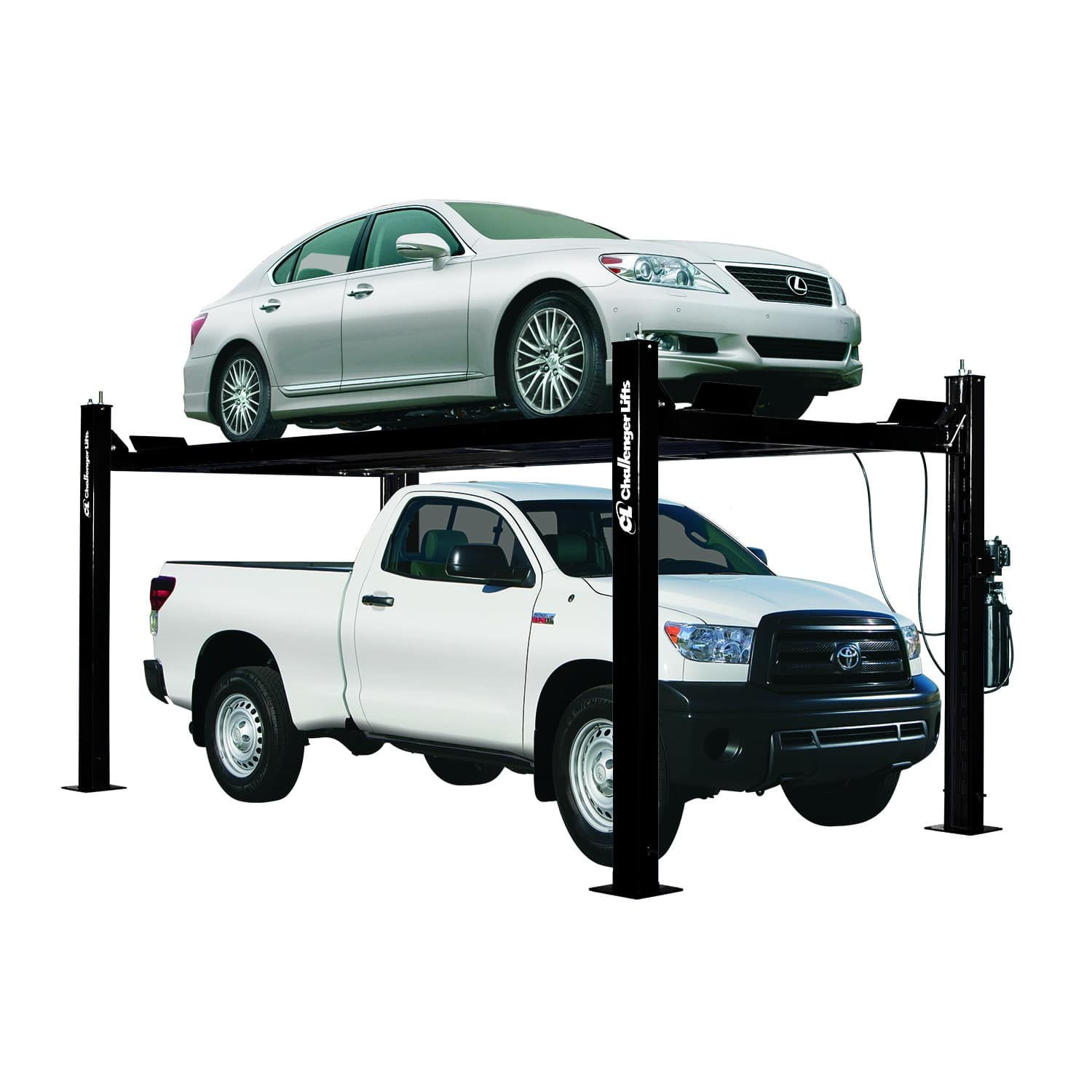 Vbm Challenger Lifts Wiring Diagrams Challengers 4 Post Garage Offer Maximum Versatility 7000 Lb Capacity And 9000 These Can Complement A Home Enthusiasts